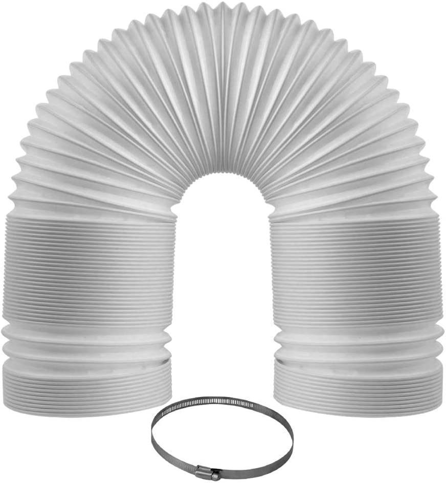 "Easy Breeze Portable Air Conditioner Exhaust Hose 5 Inch Diameter - 59 Inch Length Counterclockwise Thread Extra Durable - Replacement for 5"" Portable Air Conditioners"