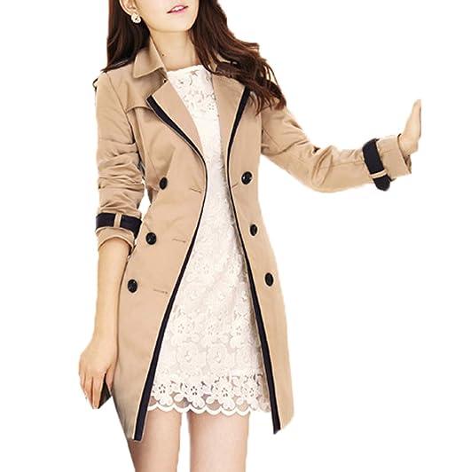 Primavera Autunno Donne Lunghezza Media Trench Coat Moda Patchwork Jacket  Outerwear Giacca Parka Tops Casual Manica Lunga Giacche Cappotto Soprabito  ... a09f096eb10