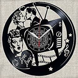 I Love Lucy TV Vinyl Record Wall Clock Decor Fan Art Handmade Unique Design Original Gift