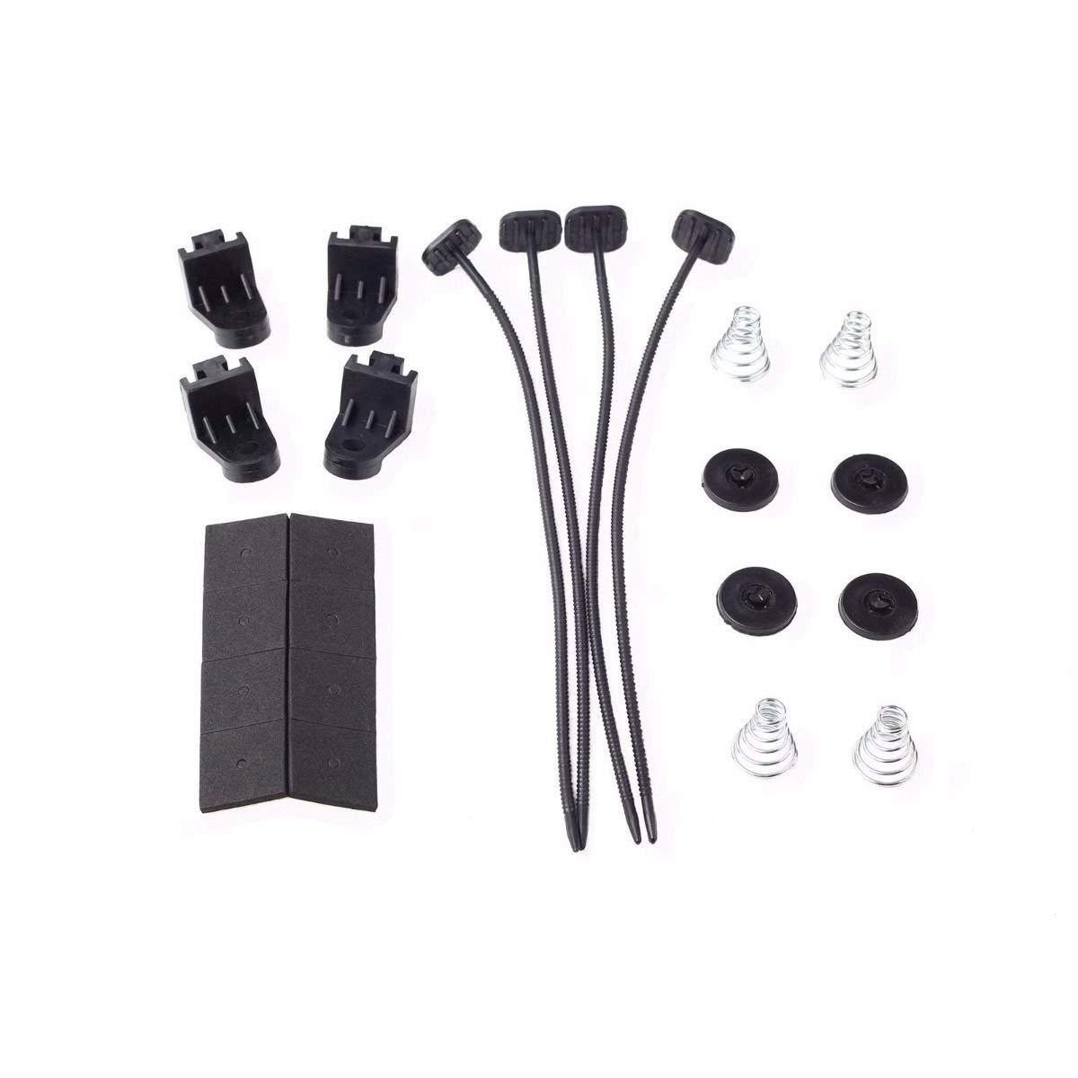 CFM Thermostat Wiring Switch Relay Kit Black 7 inch BLACKHORSE-RACING 7 Electric Radiator Fan High 3000
