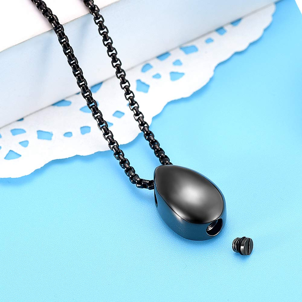 Little Teardrop Cremation Necklace for Ashes Mom Keepsake Jewelry Memorial Urn Pendant Necklace for Women