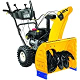 Gas Snow Blower Two-Stage Electric Start 24 in. with Steel Chute and Heavy-Duty Gear Box, Black/Yellow