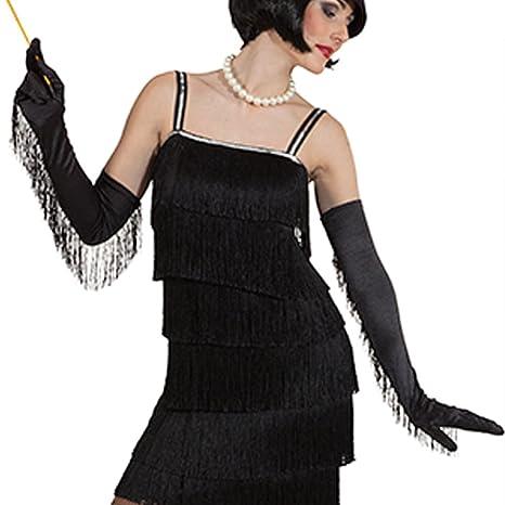 c349dd37cf4ec NET TOYS Longs Gants Charleston années 20 Mitaines pour Femme Moufles à  Franges Mode garçonne Mitaines