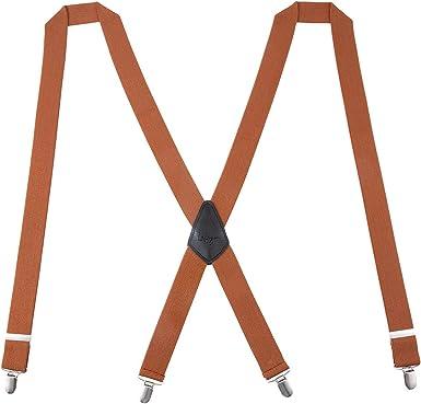 Lafayon Tirantes para hombre Plus Tirantes con espalda en X para hombres Color de 35 mm con 4 clips fuertes Paquete de regalo de tirantes resistentes: Amazon.es: Ropa y accesorios