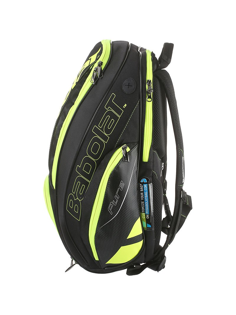 Babolat Pure Black/Fluo Yellow Backpack Bag by Babolat (Image #2)