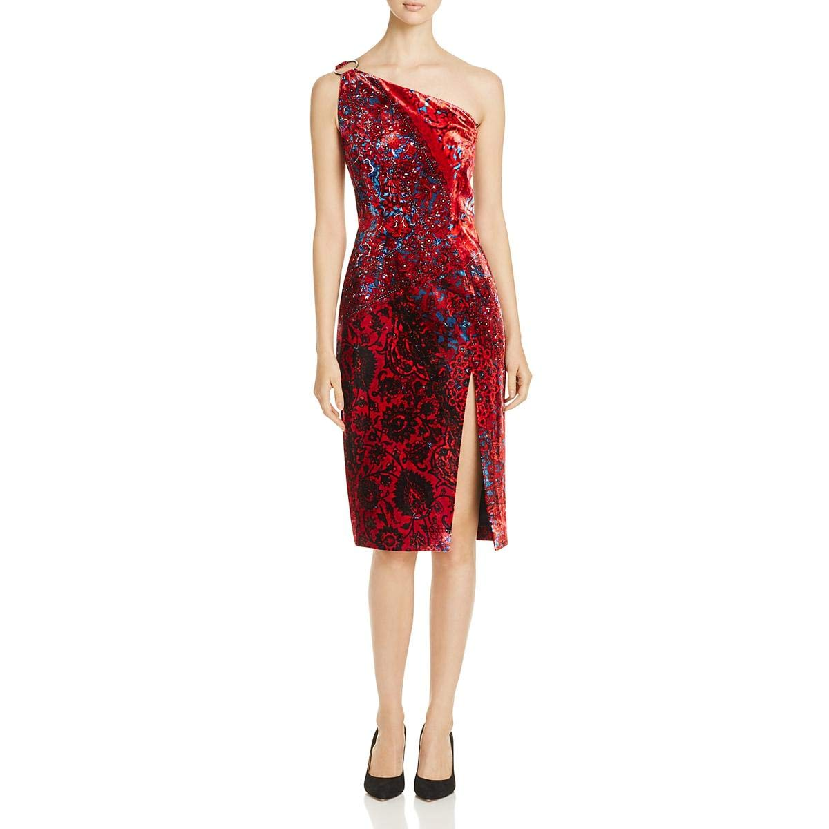6407a2e109b Elie Tahari Womens Carter One Shoulder Knee-Length Cocktail Dress at Amazon  Women s Clothing store