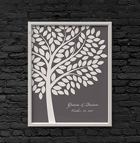 Wedding Guest Book Alternative Poster Bridal Gift Signing Tree with 200 (Wedding Poster)