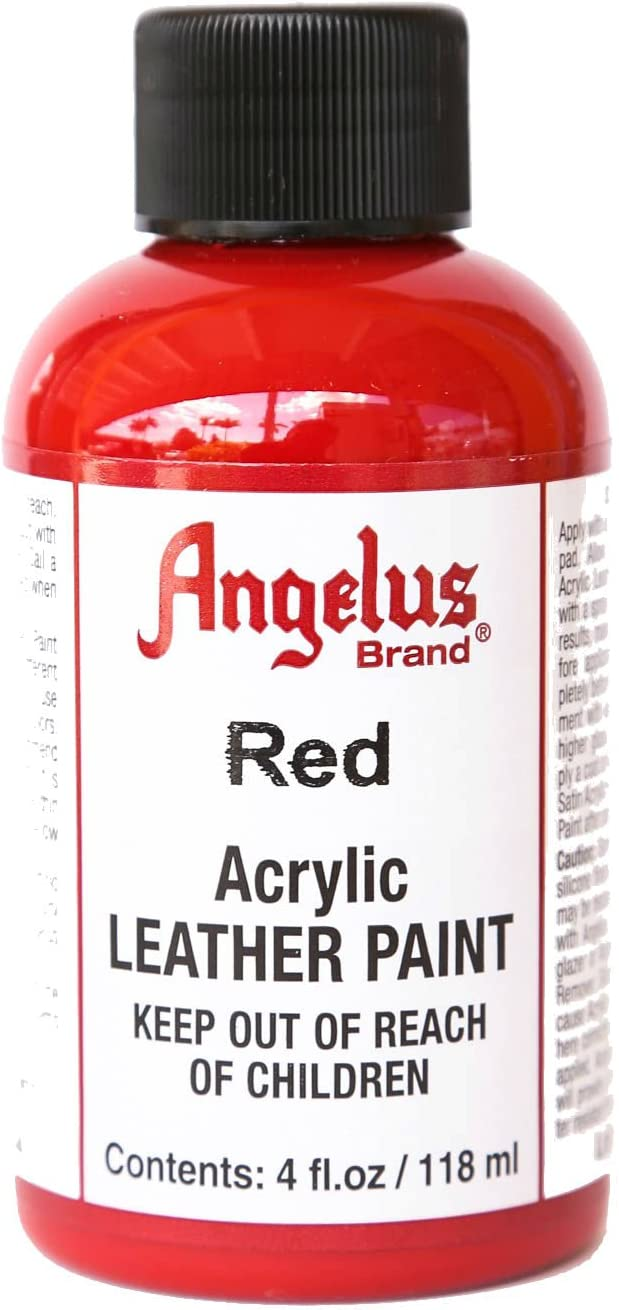 Angelus Acrylic Paint 4 Oz. (Red)
