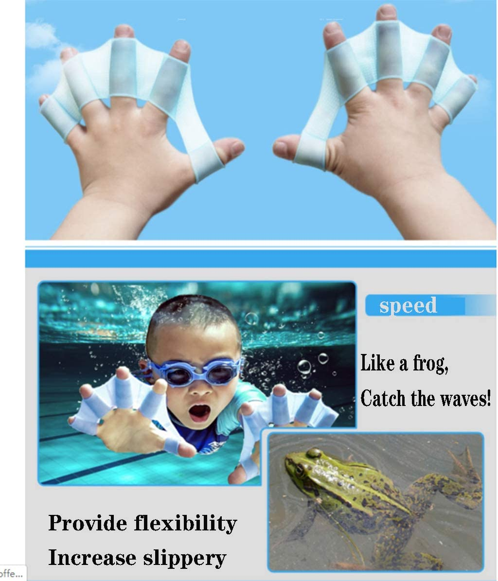 Swimming Hand Paddles Fins Web Gloves Swims Surfing Flippers Training Aids