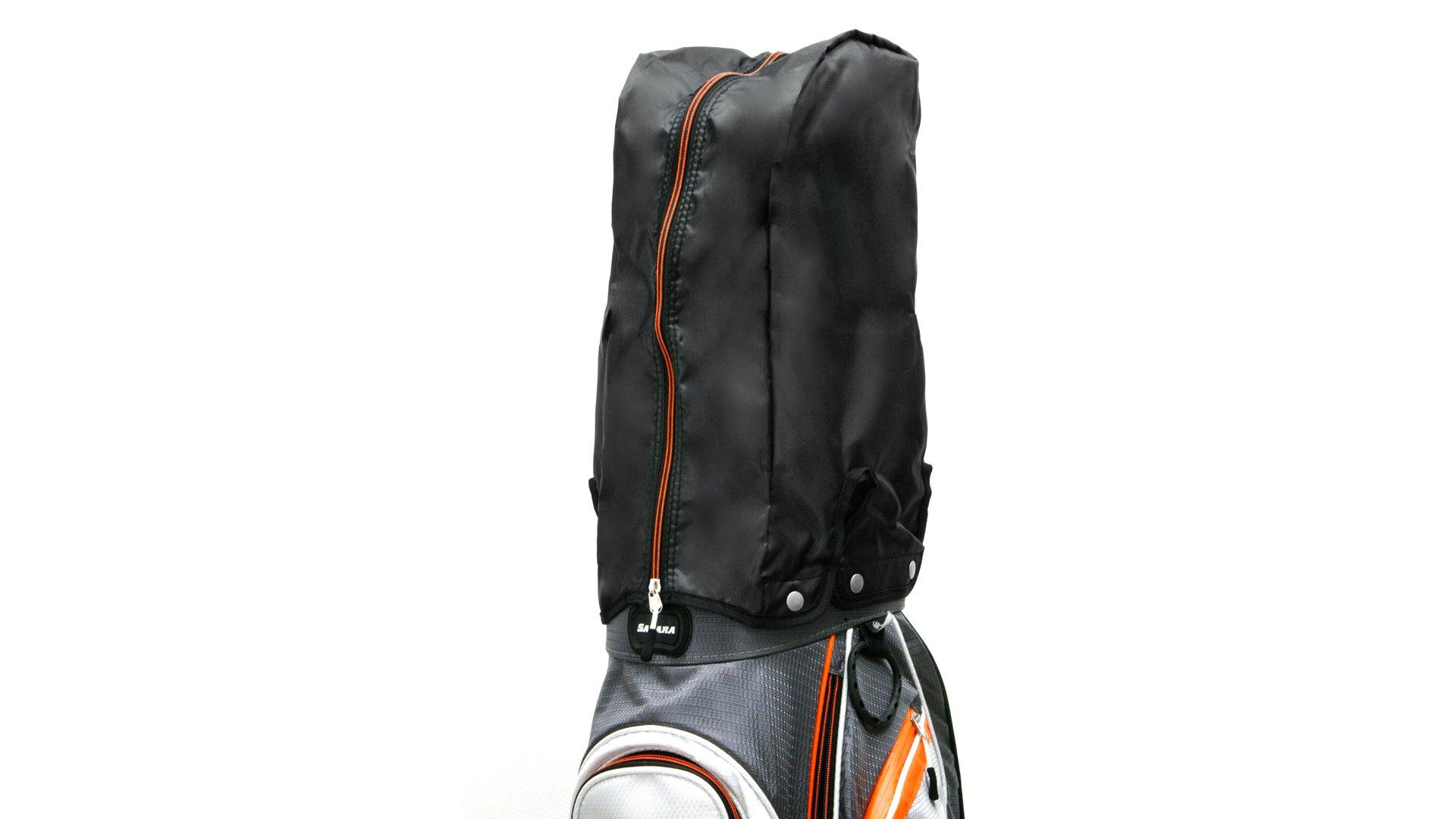 Sahara Baja Lite Golf Stand Bag, Black/White/Red by Sahara (Image #8)