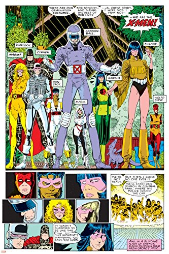 X-Men Annual No.10 Group: Warlock, Sunspot, Cannonball, Cypher, Magma, Magik and New Mutants Poster by Arthur Adams 24 x (Cypher Xmen)