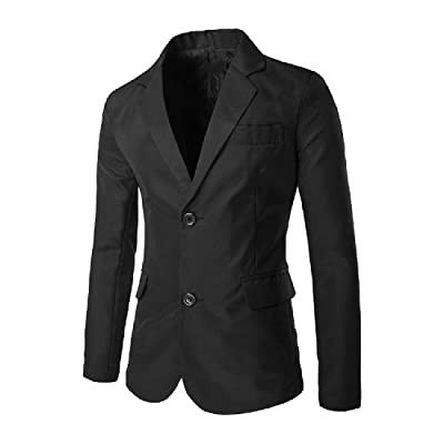 Abetteric Men's Modern Blazer Pure Colour Split Notch Lapel Sports Coat