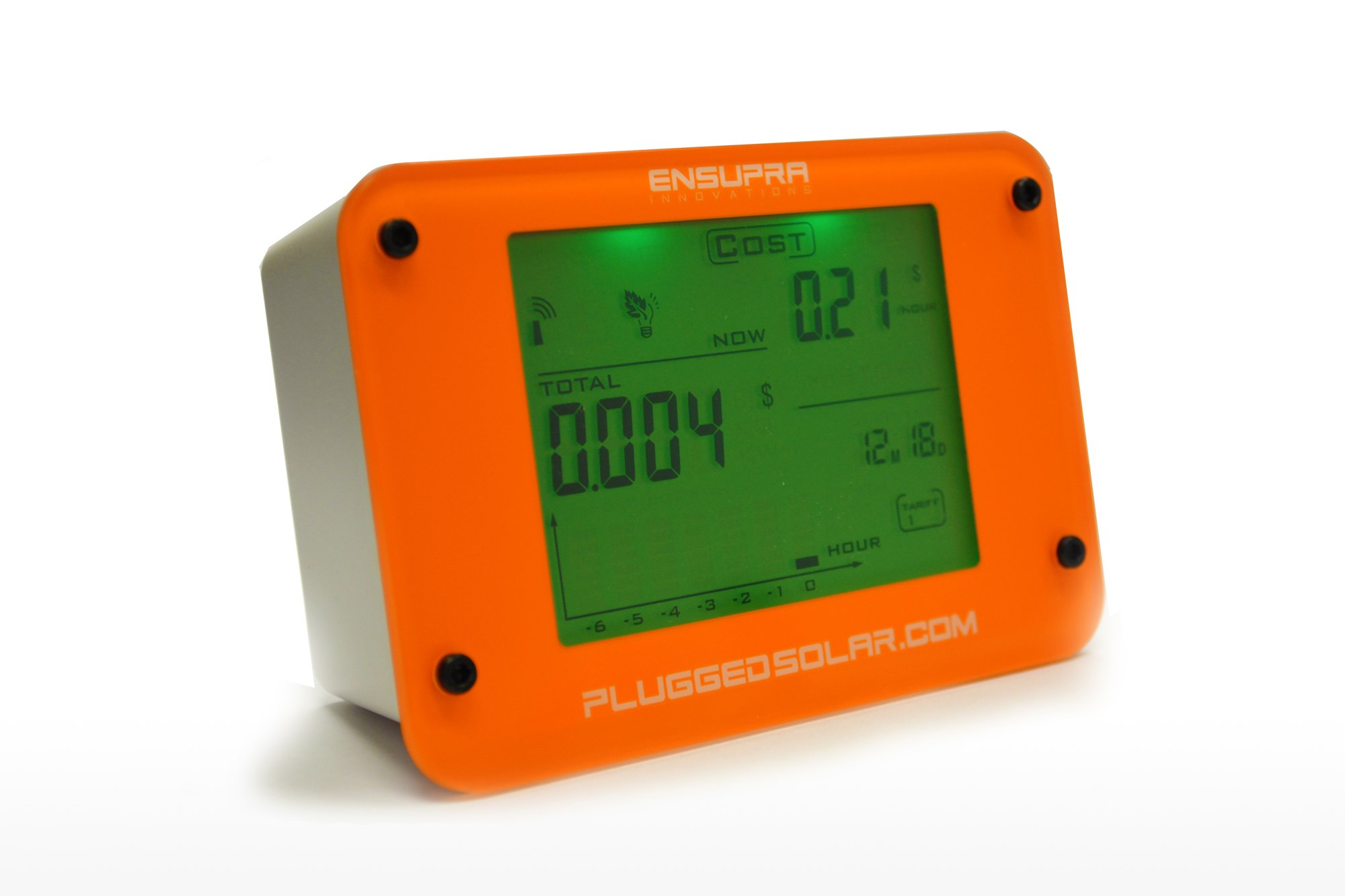 Wireless Solar Power Meter for Solar Power (AC), Monitor Displays Live KW (Kilo-Watts of AC Power Generation), Records the Solar PV Electricity Prodtion in Kwh, Shows Money Savings and Co2 Avoiaded. Used also for Monitoring Electricity Generation from Win by Plugged Solar (Image #2)