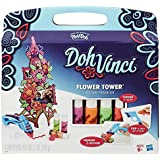 Hasbro - DohVinci Flower Tower Kit Creativo, 4 Tubetti