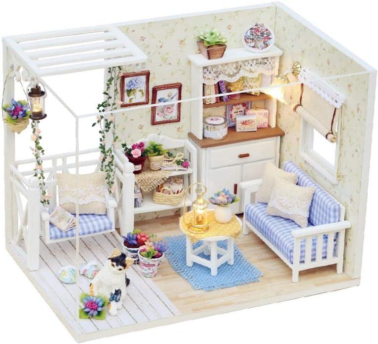TOPINCN DIY Miniatura de la Casa Muñecas con Muebles Madera Casa Muñecas Juguetes Educativos Niños Regalos Cumpleaños para Niños Amigos