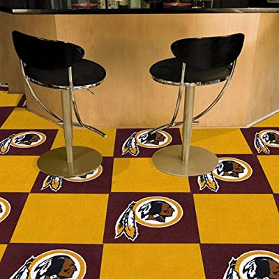 Fanmats Washington Redskins Team Carpet Tiles