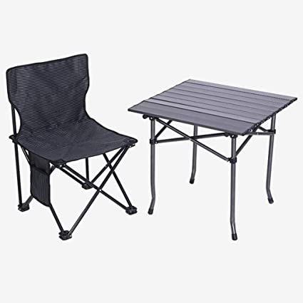 TONG YUE SHOP Plegable al Aire Libre Mesa y sillas al Aire ...
