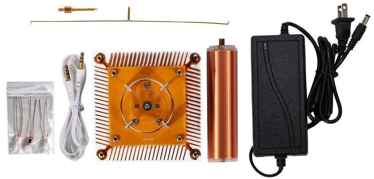Joytech Music Tesla Coil Acrylic Base Shell Arc Plasma Loudspeaker Wireless Transmission Experiment Desktop Toy Model (YS01) by Joytech (Image #6)
