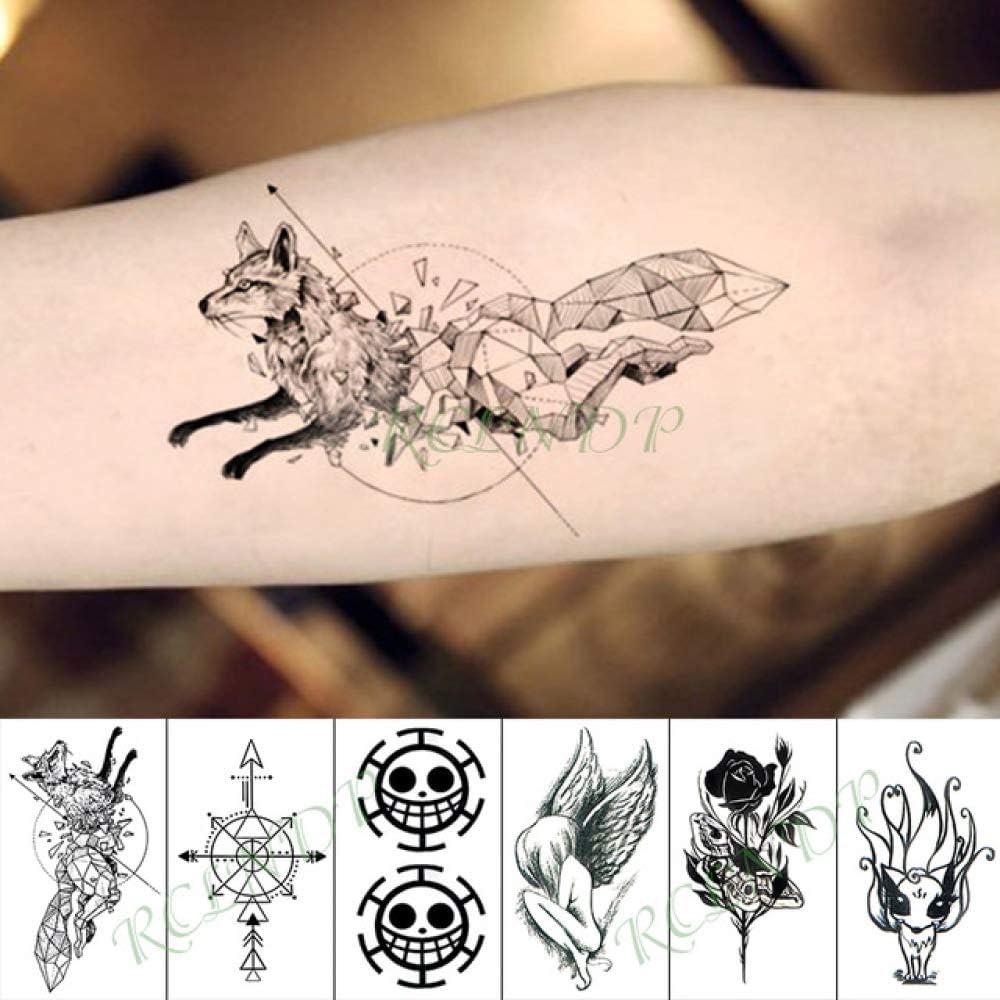 ljmljm 3 Piezas Impermeable Tatuaje Pegatina árbol Lobo Perro ...