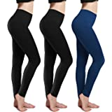 Fleece Lined Leggings Thick Brushed Ultra Soft Premium Warm High Waist Elastic and Slimming Tights for Women