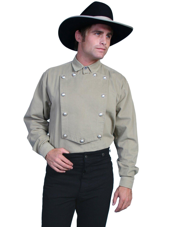 Scully Men's 538720X Cotton Bib Shirt, Tan - 2XT by Scully