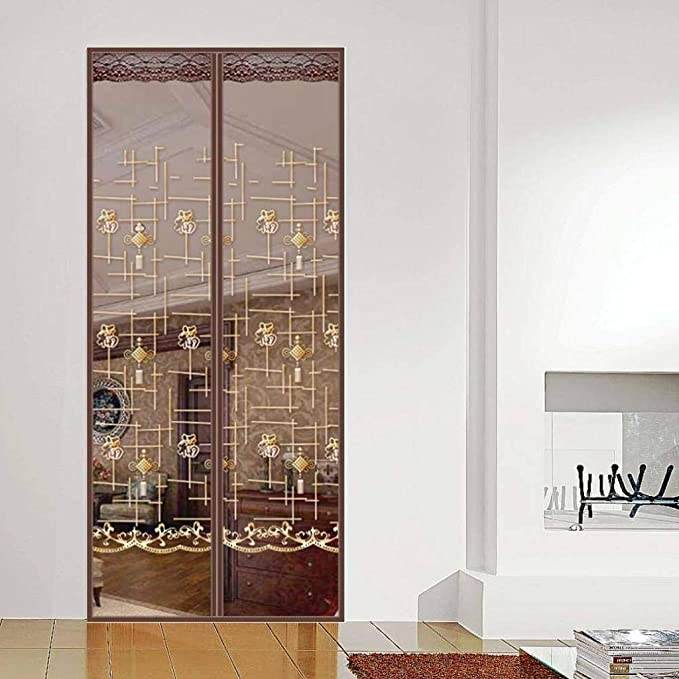 COAOC Cortina Puerta Exterior con Durable Verano Cortina magnética con Malla Super Fina para para Terraza - A 47x79inch(120x200cm): Amazon.es: Hogar