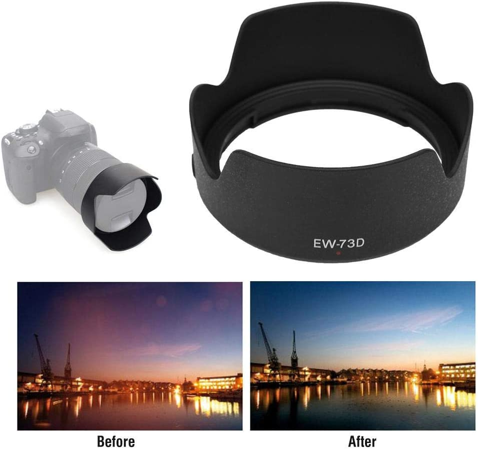 3.5-5.6 is USM Lens. Mugast EW-73D Camera Lens Hood,Portable Plastic Sun Shade,Professional Replacement Lens Hood Shade Accessory for Canon EF-S 18-135mm f