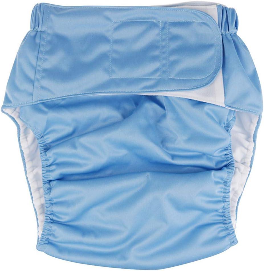 WXMYOZR Pantalones De Pañal De Tela Talla Única Ajustable Lavable Reutilizable Máxima Máxima Absorción Pañales para Adultos para El Cuidado De La Incontinencia Ropa Interior,B: Amazon.es: Hogar