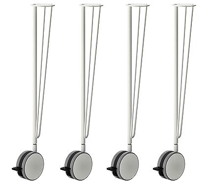 IKEA KRILLE patas de mesa de acero con sistema de bloqueo Caster ruedas – 27,