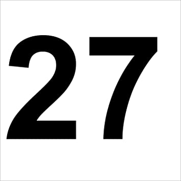 MODERN HOUSE NUMBER STICKERS