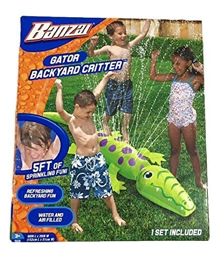 Banzai Gator Backyard Critter Sprinkler (Inflatable Outdoor Water Toys)