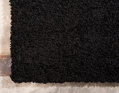 Unique Loom Solo Solid Shag Collection Modern Plush Jet Black Rectangle (5' x 8') by Unique Loom (Image #9)