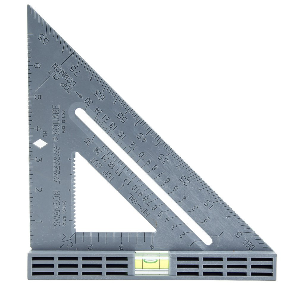 Swanson Tool T0111 Speedlite Level Square Layout Tool Gray