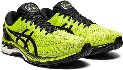 Asics Zapatillas de running Gel-Kayano 27 para hombre, Azul (Piel de Lima/Negro), 44.5 EU: Amazon.es: Zapatos y complementos