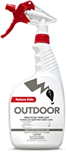 Nature-Cide Outdoor. Insecticide and Repellent. All Natural Pest Repellent, Roach, Spider, Mosquito and Ant Spray to Keep Your Home Safe. No Strong Odor. 32 oz