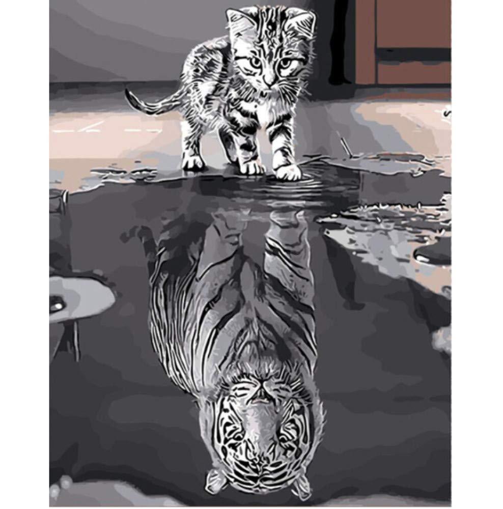 GUOXIN12 Sin Marco Pintura DIY por Números Decoración DIY Pintura Al Óleo de la Lona para la Sala de estar40x50cm