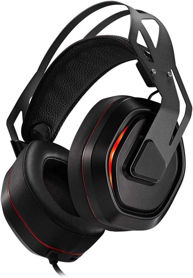 Gaming Gaming Headphones Dynamic Gaming Gaming Auriculares para computadora Auriculares, auriculares con cable para juegos, adecuados para computadoras personales, teléfonos inteligentes, cómodos y