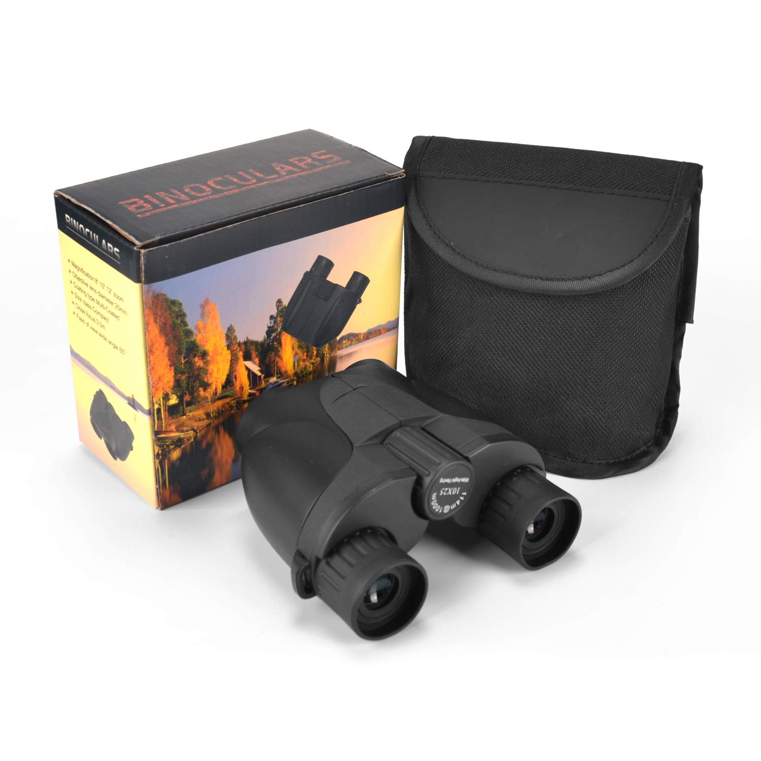 10X25 Mini Binoculars, Powerful Folding Compact Binoculars Telescope for Adults and Kids with Large Eyepiece,Fully Multi-Coated Green Lens,Waterproof Suit for Bird Watching Football Safari Sightseeing
