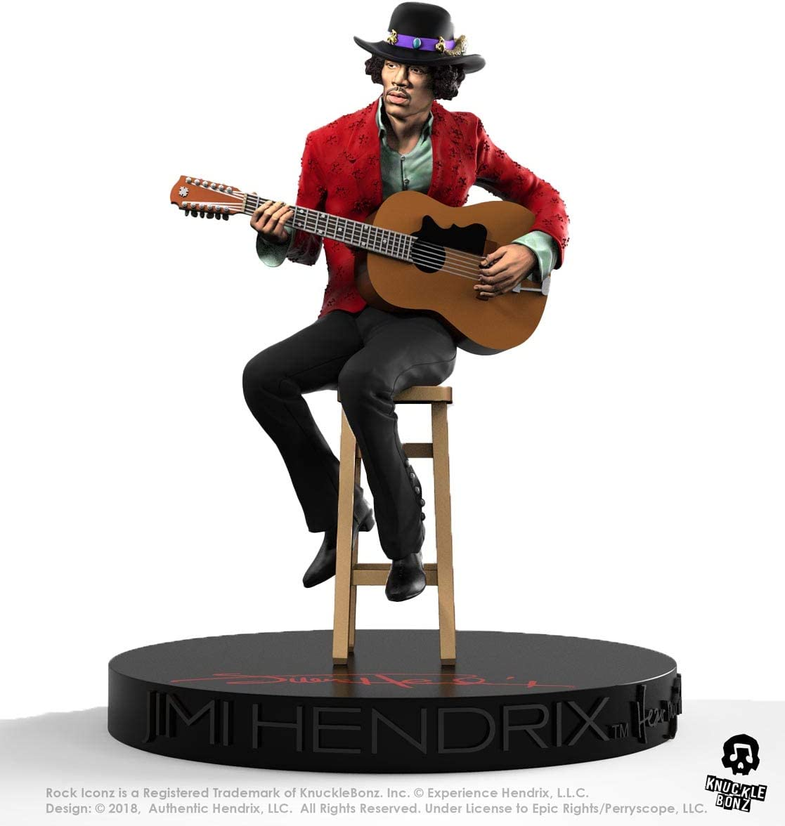 Knucklebonz Jimi Hendrix II Limited Edition Collectible Statue - Rock Iconz, Officially Licensed, Includes CoA