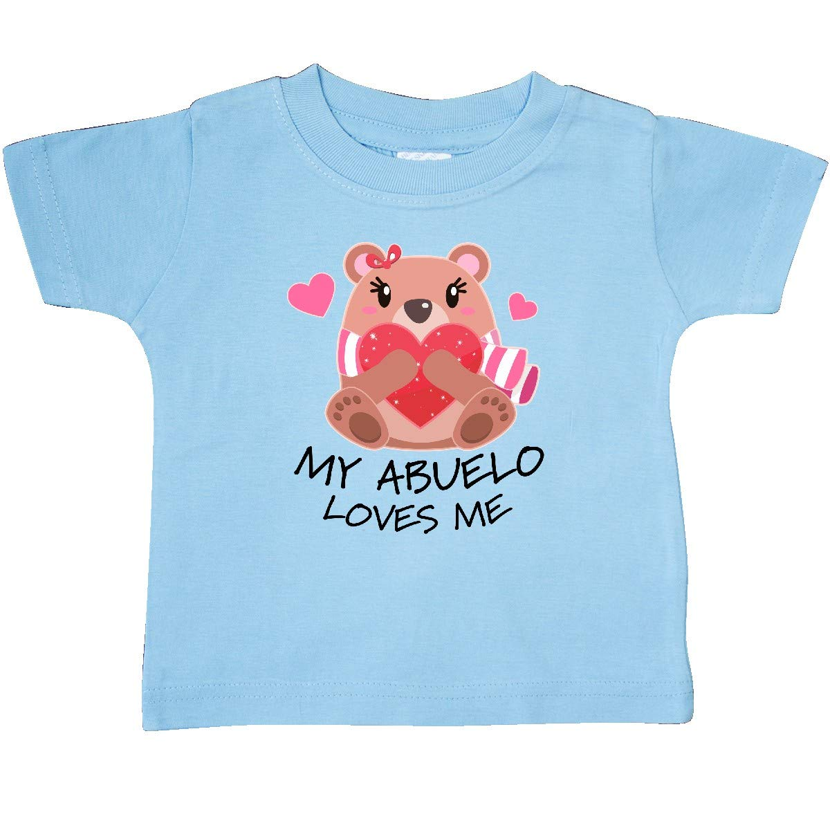 inktastic My Abuelo Loves Me Bear and Hearts Baby T-Shirt