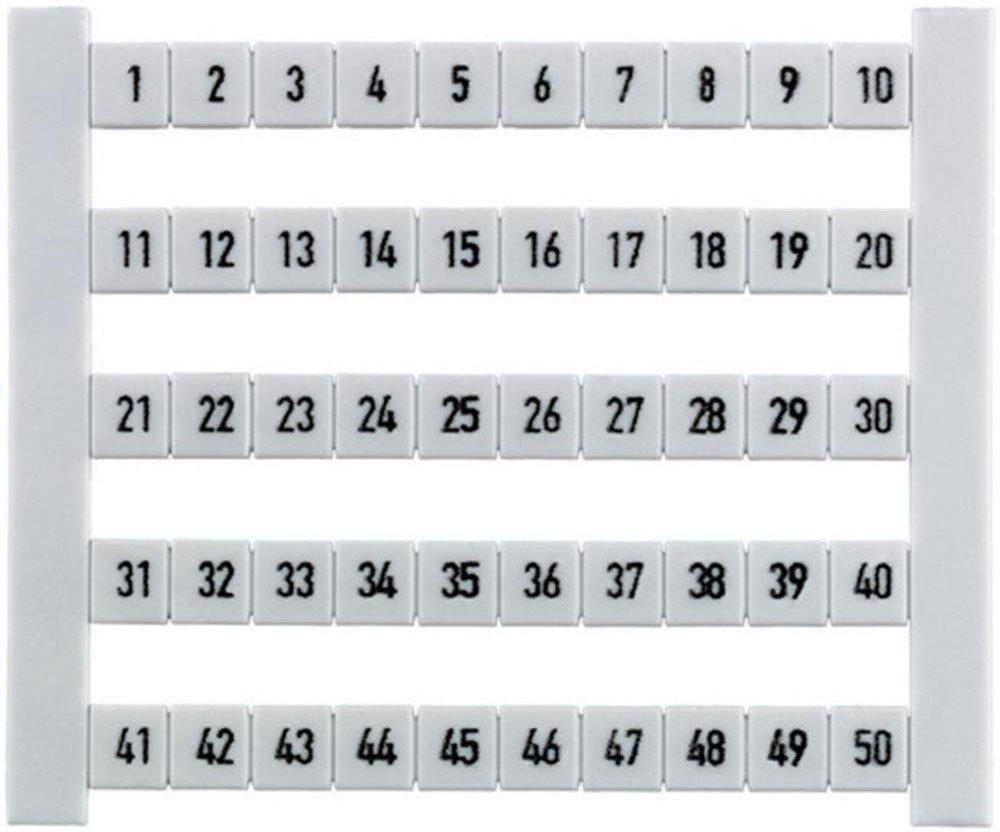 Weidm/üller Klemmenmarkierer DEK 5 FW 101-150 dekafix ws dekafix Klemmenmarkierung 4008190033323