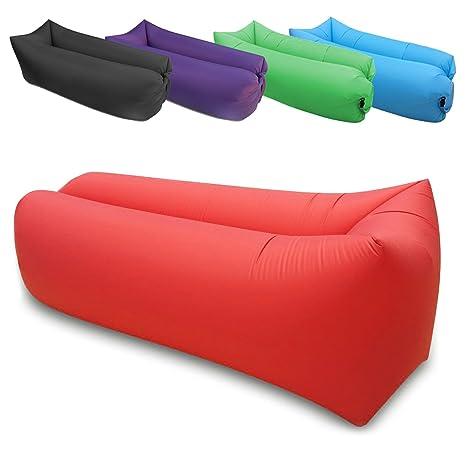 Focus AZ hinchable tumbona, Hangout Lounge Silla, Sofá, hamaca & sofá – Tejido de Nylon en interiores o exteriores Air Dormir – Sofá puf de muebles de ...