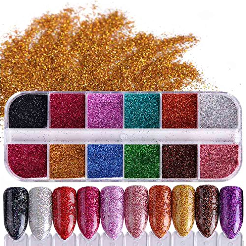 How Does Powder Nail Polish Work: 1 Set Shiny Glitter Nail Powder Chrome Pigment Dust Mix