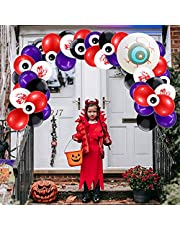 Halloween Balloon Arch Garland Kit,121 Pieces Halloween Party Balloons Includes Black Orange Latex Balloons & Confetti Balloons & Spider Balloon for Halloween Birthday Party Decoration