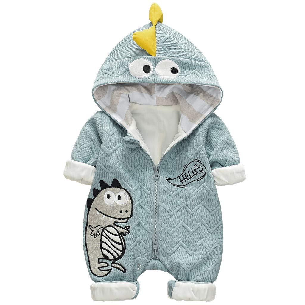 Beb/é Ni/ños Ni/ñas Mono Dinosaurio Mameluco con Capucha Manga Larga Peleles Algod/ón Pijama Infantil Traje de Dormir Reci/én Nacido Onesie
