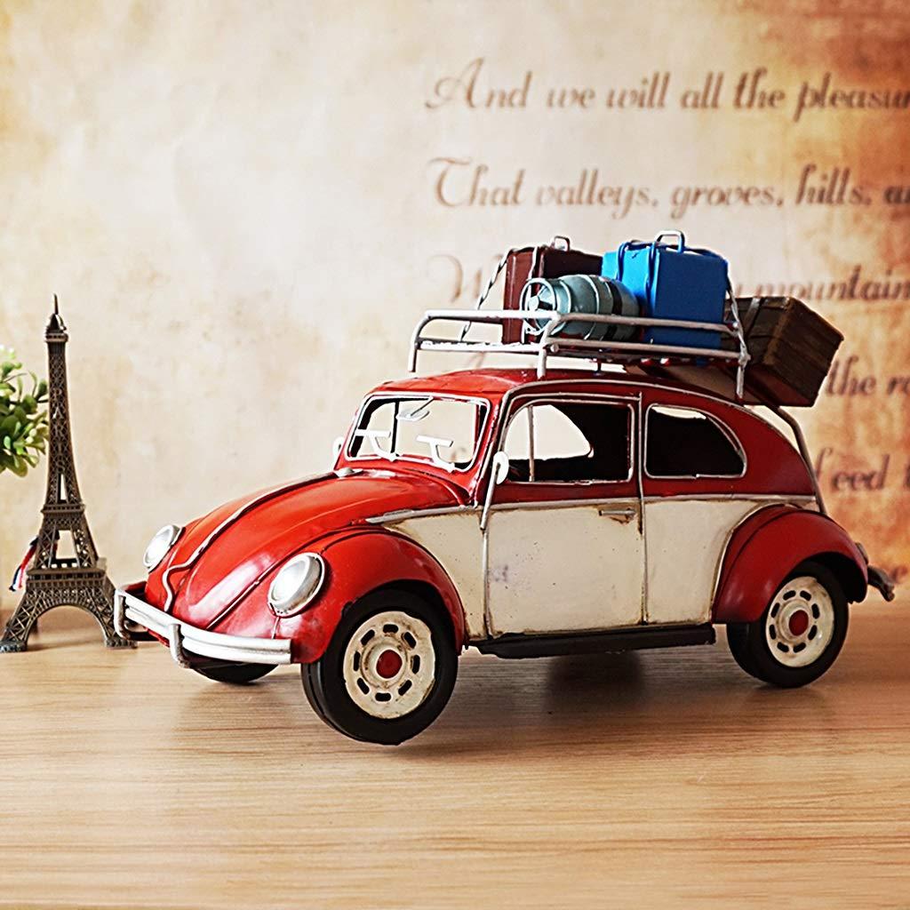 artículos novedosos GHMOZ Vintage Vintage Vintage Iron Classic Coche Model Beetle Touring Coche Art Deco Collection Adecuado for decoración y Regalos Rojo  mejor marca