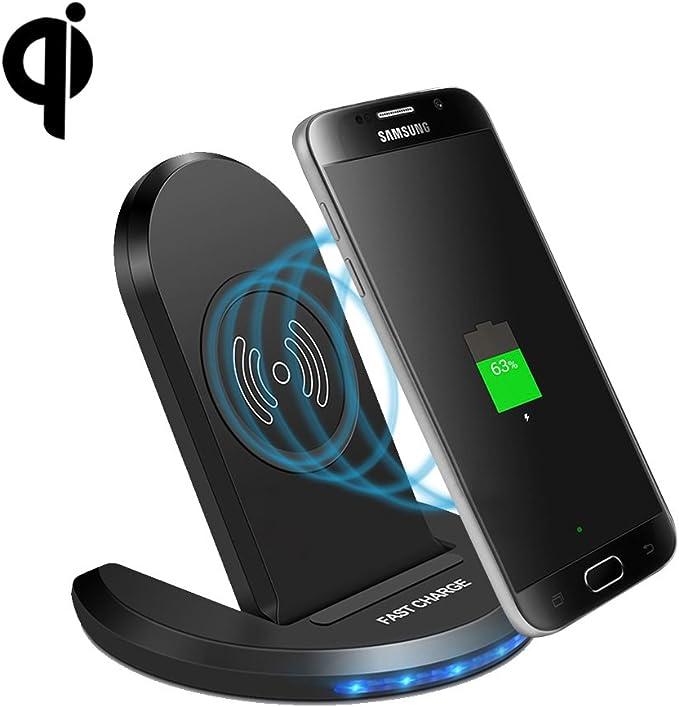 dernière remise inégale en performance vente à bas prix Fdgao chargeur sans fil rapide, Induction chargeurs 2-coil 10 W Qi Chargeur  sans fil Support pour iPhone 8/8 Plus/iPhone X, Samsung Galaxy S8/S8 ...