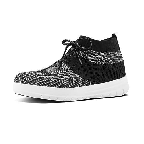 Fitflop Uberknit Slip-ON High Top Waffle, Sneaker a Collo Alto Uomo, Black (Black), 41 EU