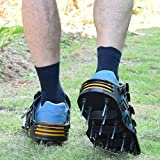 Lawn Aerator Shoes – Spiked W/5 STRAPS Adjustable Size, Heavy-Duty Durable for Greener, Healthier Yard, Law and Grass