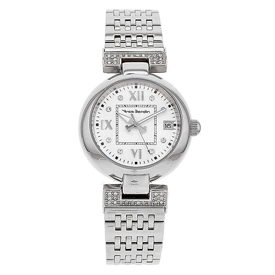 Jouailla – Reloj Dama Yves BERTELIN acero, Dato, Index y números romanos, pulsera